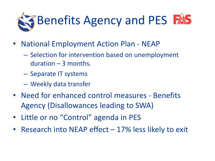 Benefits Agency and PES