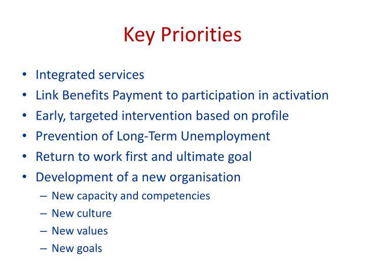 Key Priorities