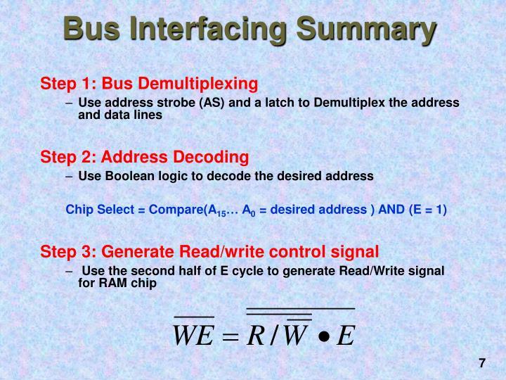 Step 1: Bus Demultiplexing