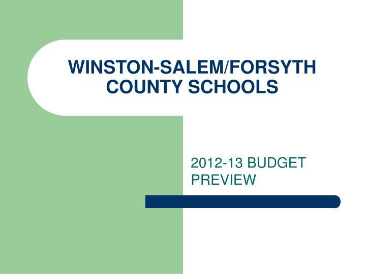 winston salem forsyth county schools