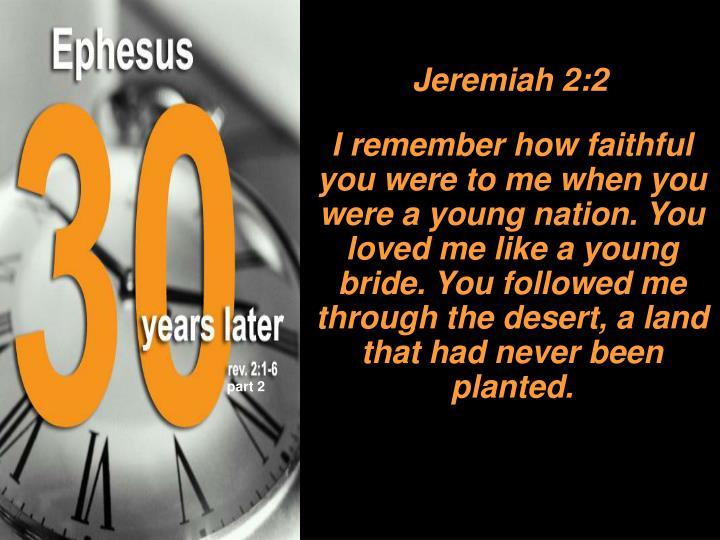 Jeremiah 2:2