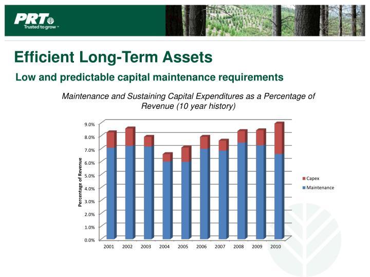 Efficient Long-Term Assets