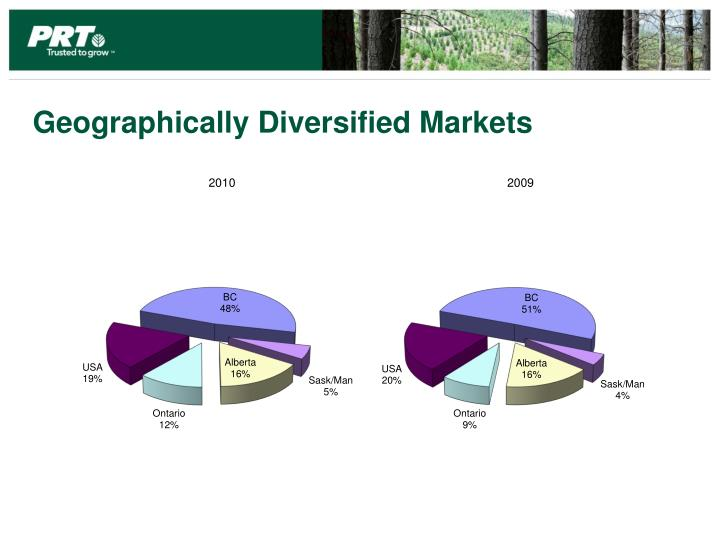 Geographically Diversified Markets