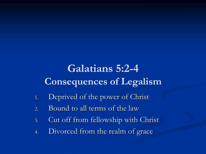 Galatians 5:2-4