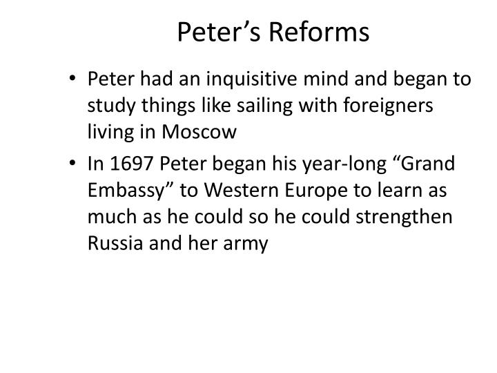 Peter's Reforms