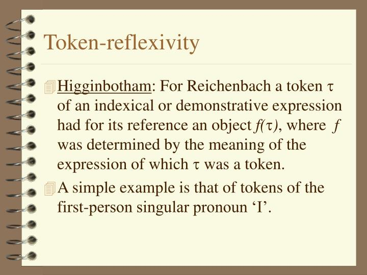 Token-reflexivity