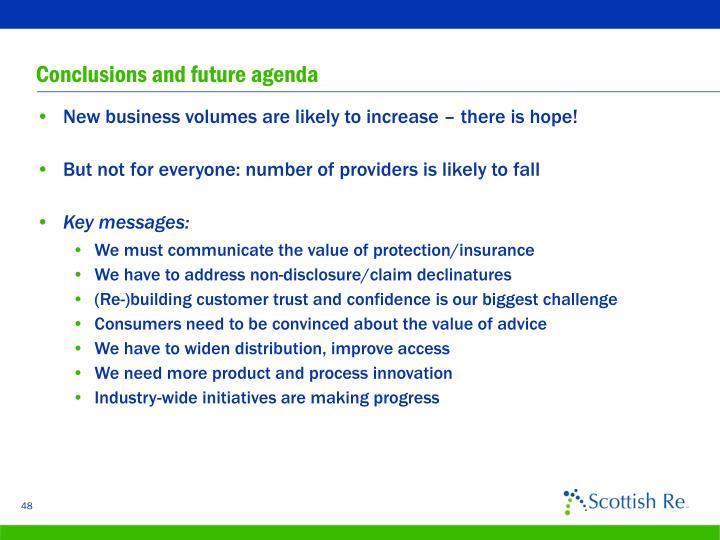 Conclusions and future agenda