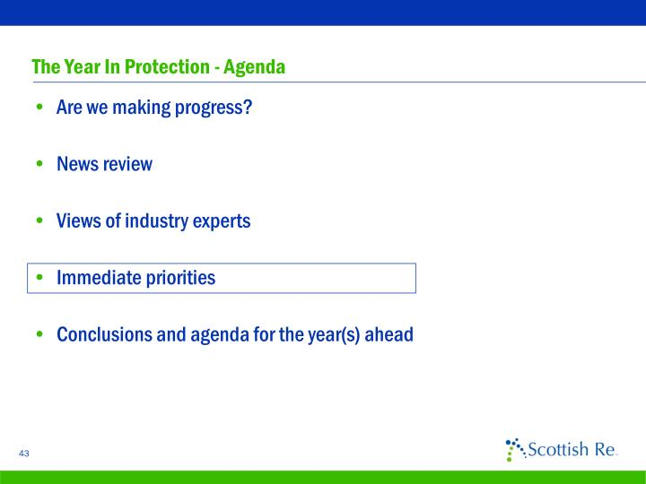 The Year In Protection - Agenda