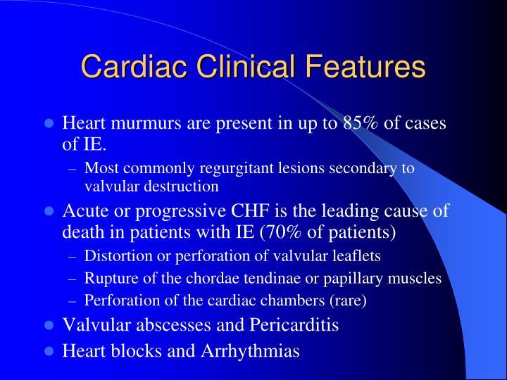 Cardiac Clinical Features