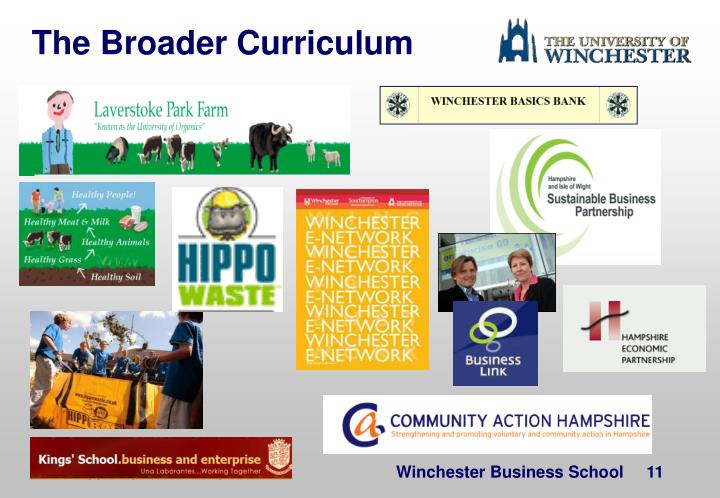 The Broader Curriculum