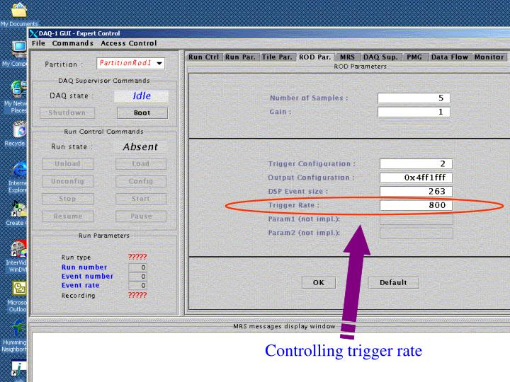 Controlling trigger rate