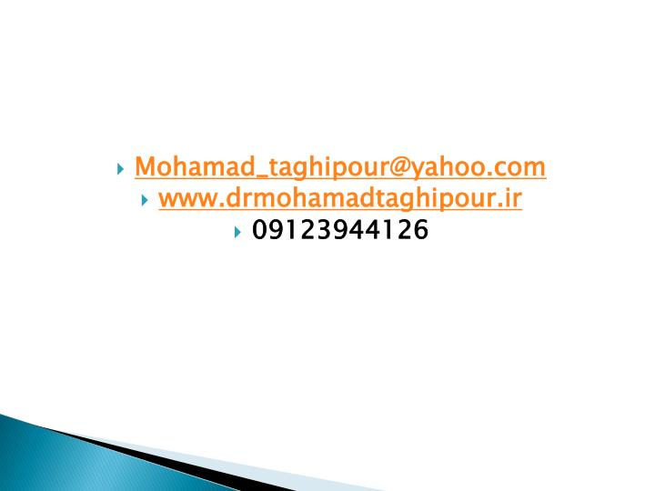 Mohamad_taghipour@yahoo.com