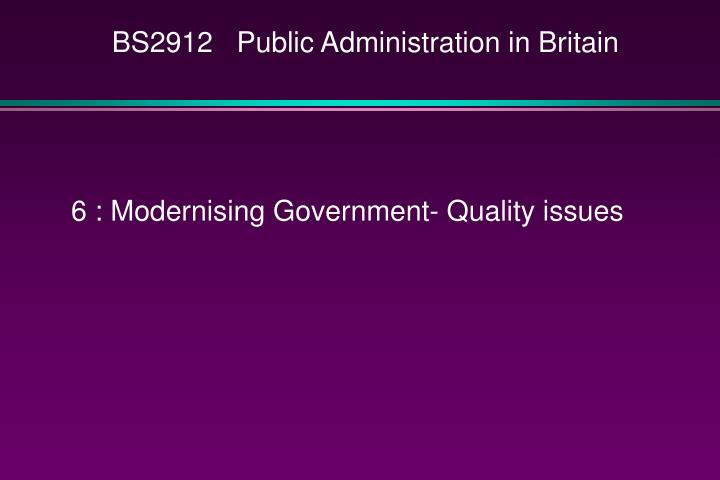 bs2912 public administration in britain