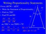 writing proportionality statements