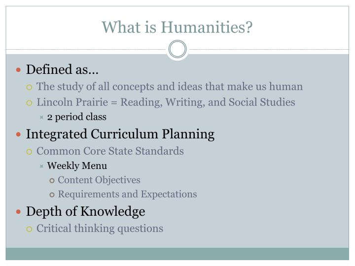 What is Humanities?
