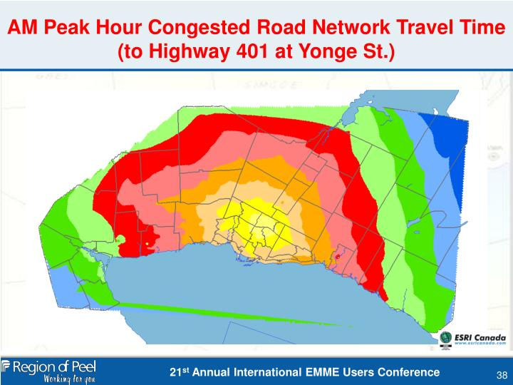 AM Peak Hour Congested Road Network Travel Time