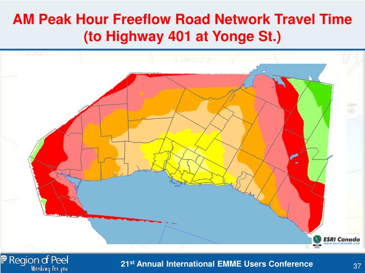 AM Peak Hour Freeflow Road Network Travel Time