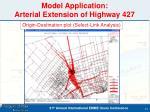 model application arterial extension of highway 427