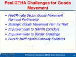 peel gtha challenges for goods movement