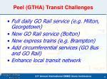 peel gtha transit challenges