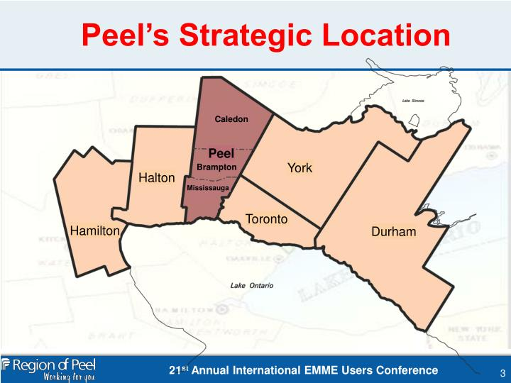 Peel's Strategic Location