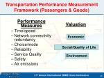 transportation performance measurement framework passengers goods