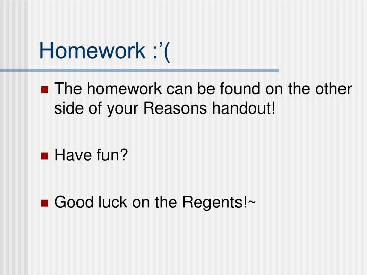 Homework :'(