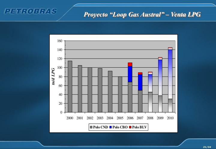 """Proyecto """"Loop Gas Austral"""" – Venta LPG"""