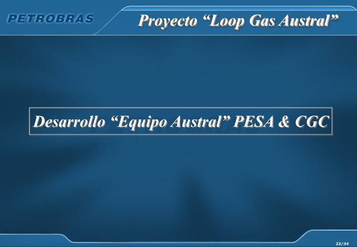 """Proyecto """"Loop Gas Austral"""""""