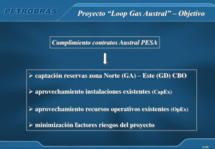 Cumplimiento contratos Austral PESA