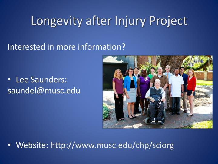 Longevity after Injury Project
