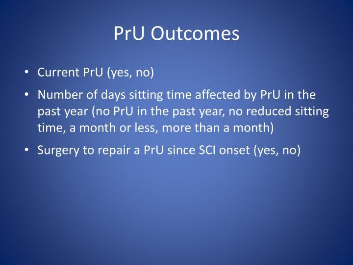 PrU Outcomes
