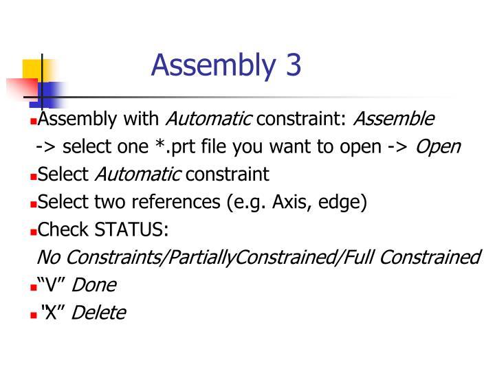 Assembly 3