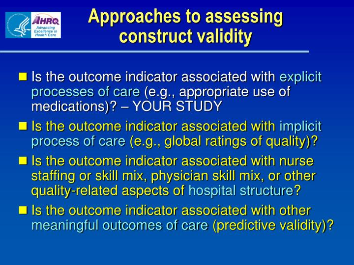 Approaches to assessing