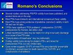 romano s conclusions
