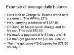 example of average daily balance