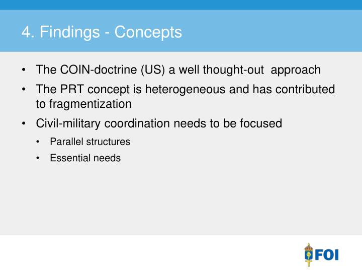 4. Findings - Concepts