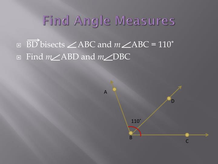 Find angle measures