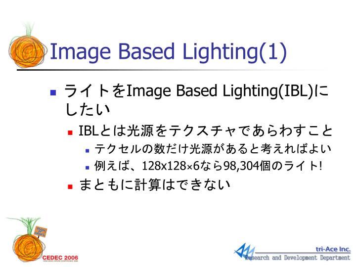 Image Based Lighting(1)