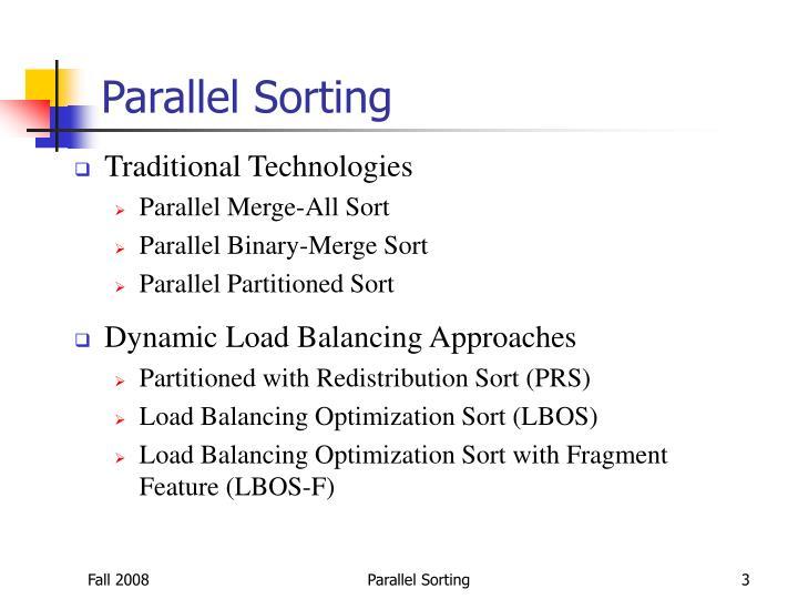 Parallel Sorting