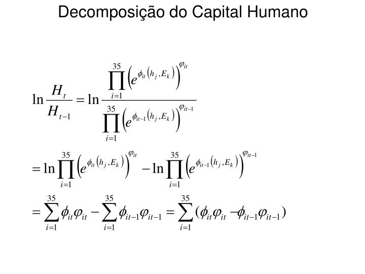 Decomposição do Capital Humano