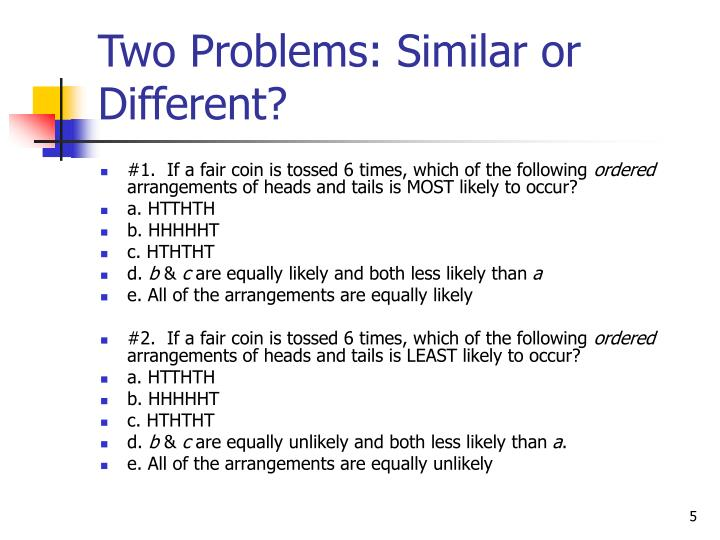 Two Problems: Similar or Different?