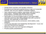 corporate involvement value