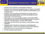 education involvement value