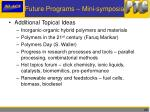 future programs mini symposia1