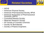 related societies