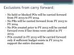 exclusions from carry forward