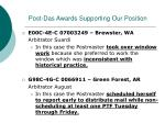 post das awards supporting our position1