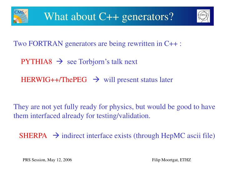 What about C++ generators?