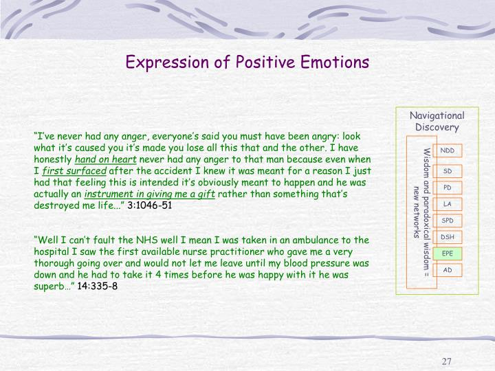 Expression of Positive Emotions